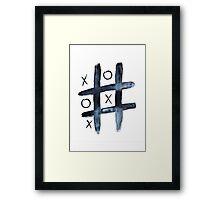 Noughts & crosses Framed Print