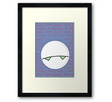 Don't Panic Framed Print
