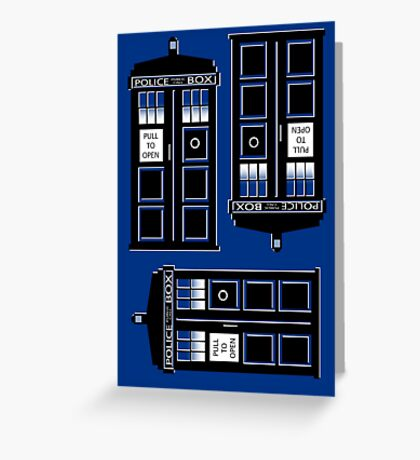 tIME bOX 3 Greeting Card
