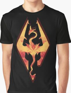 Skyrim Fire Graphic T-Shirt
