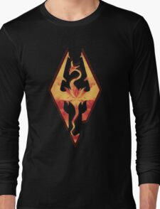 Skyrim Fire Long Sleeve T-Shirt