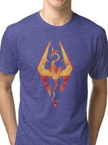 Skyrim Fire Tri-blend T-Shirt