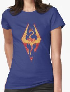 Skyrim Fire Womens Fitted T-Shirt