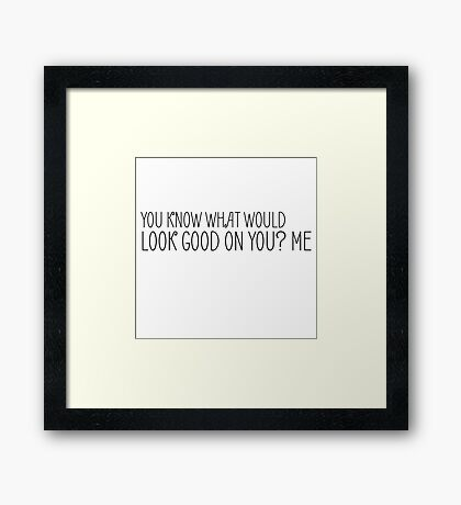 Funny Sexy Sex Humour Joke Cool Cute Framed Print