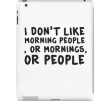 Funny Morning People Coffee Humour  iPad Case/Skin
