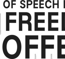 Free Speech Liberty Freedom Free Political Sticker