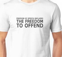 Free Speech Liberty Freedom Free Political Unisex T-Shirt