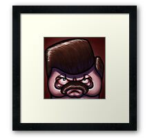 Ron Square-icature Framed Print