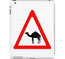 Caution Camel Traffic Sign iPad Case/Skin