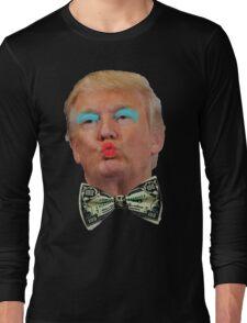 Trump Kissy Face Long Sleeve T-Shirt