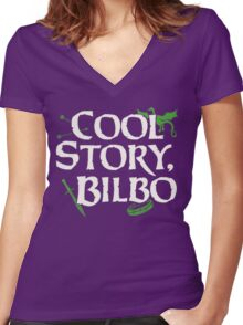 Cool Story Bilbo Women's Fitted V-Neck T-Shirt