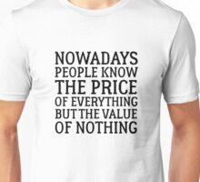 Oscar Wilde Quote Writing Life Political Social Unisex T-Shirt