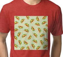 Happy Taco Pattern Tri-blend T-Shirt