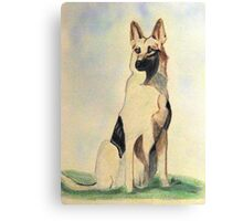 The German Shepherd A Friend For Life Canvas Print