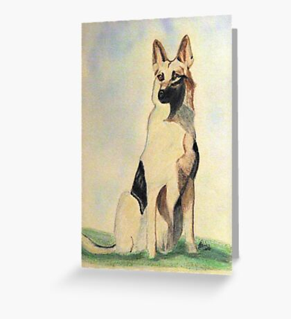 The German Shepherd A Friend For Life Greeting Card