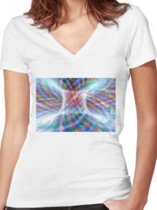 Abstract Torus Women's Fitted V-Neck T-Shirt