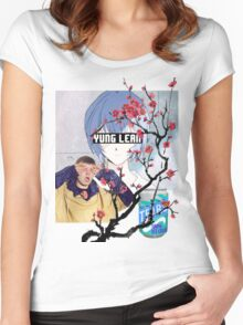 Yung Lean Anime Vaporwave Women's Fitted Scoop T-Shirt