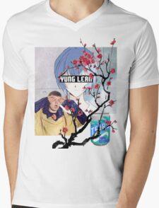 Yung Lean Anime Vaporwave Mens V-Neck T-Shirt