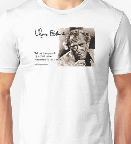 BUKOWSKI - people QUOTE #2 - sepia Unisex T-Shirt