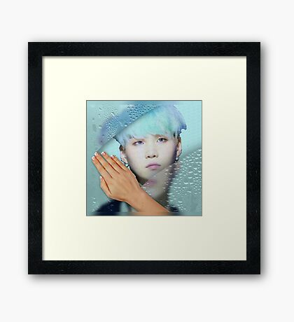 Suga - turquoise phone cases and more Framed Print