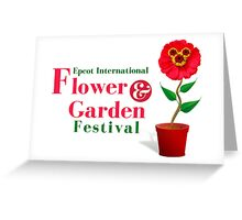 Epcot Flower and Garden Festival Planted Mickey Greeting Card
