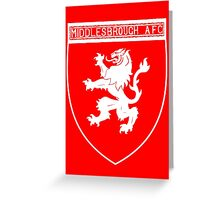 middlesbrough afc Greeting Card