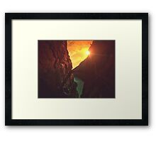 Caminito del rey Framed Print