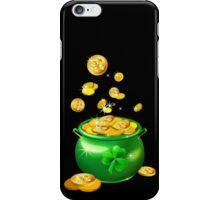 St. Patrick`s Day shiny green pot iPhone Case/Skin