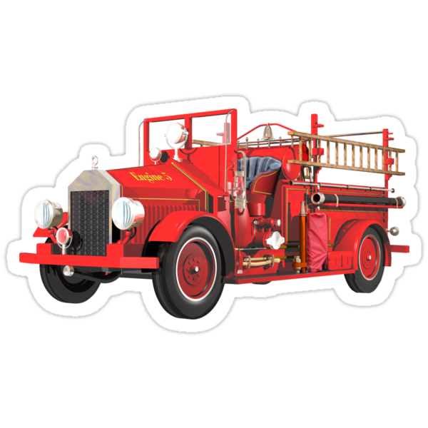 Antique Fire Engine by Carol and Mike Werner