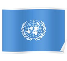 Flag of the United Nations, FLAG OF THE UN, PURE AND SIMPLE Poster