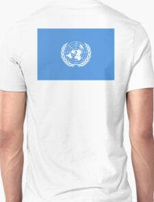 Flag of the United Nations, FLAG OF THE UN, PURE AND SIMPLE Unisex T-Shirt