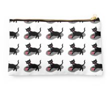 Black cat playing Studio Pouch