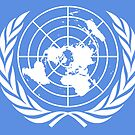UNITED NATIONS, UN, EMBLEM of the United Nations, EMBLEM OF THE UN, PURE AND SIMPLE by TOM HILL - Designer