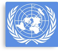 UNITED NATIONS, UN, EMBLEM of the United Nations, EMBLEM OF THE UN, PURE AND SIMPLE Canvas Print