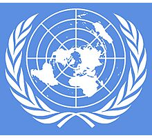 UNITED NATIONS, EMBLEM of the United Nations, EMBLEM OF THE UN, PURE AND SIMPLE Photographic Print