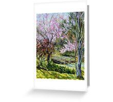 Plum Blossoms Japanese Garden  Greeting Card