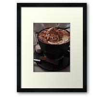 Bucket of chocolate Framed Print