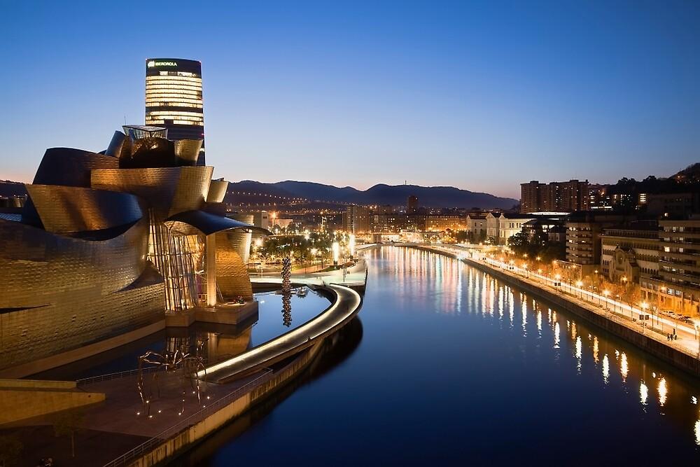 Bilbao at Night by Unai Ileaña