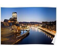 Bilbao at Night Poster