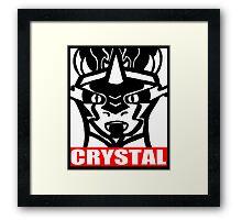 Sombra Crystal Framed Print