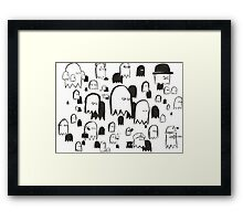 A Swarm of Ghosties Framed Print