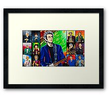 The Doctor of the Universe - The Silver Punk Framed Print