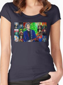 The Doctor of the Universe - The Silver Punk Women's Fitted Scoop T-Shirt