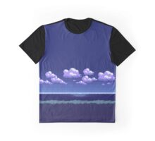 Pokemon Pixel Art 8 Bit Landscape Night Graphic T-Shirt