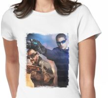 LOT - Captain Cold & Heatwave Paint Splash Womens Fitted T-Shirt