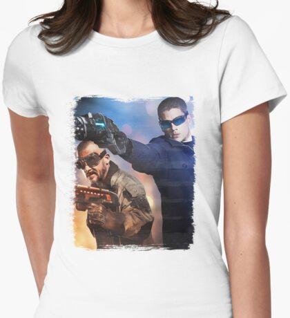 LOT - Captain Cold & Heatwave Paint Splash Womens Fitted T-Shirt