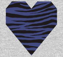 0397 Majorelle Blue Tiger Kids Tee