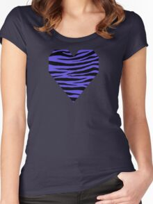0397 Majorelle Blue Tiger Women's Fitted Scoop T-Shirt