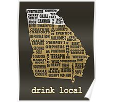 Drink Local - Georgia Beer Shirt Poster