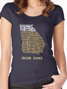 Drink Local - Georgia Beer Shirt Women's Fitted Scoop T-Shirt
